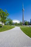 Sidewalk to tower