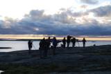 Skådare kollar in Isabellatörnskata Hållö Bohuslän 2.11-08