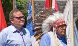 zP1050284 Mt Gov Brian Schweitzer and Blackfeet Chief Earl Old Person at GNP.jpg