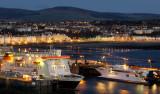 Douglas harbour as dawn breaks