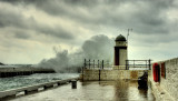 Stormy seas, Laxey Harbour
