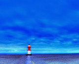 Night time at the Point of Ayre