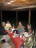 Dinner at the campsite outside the Masai Mara.