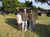 Early morning, about to set off on a game drive through the Mara.