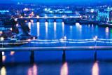 Blue City at Night