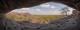 Rock Art Shelter Lookout Panorama