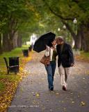 Lovers Walking in the Rain