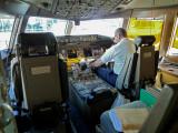 United 777 Flight Deck