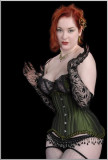 Mina LaFleur: The Green Corset on Black...