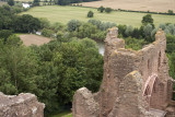 Goodrich Castle - view down river from top of the keep