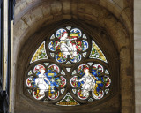 one of many beautiful stained glass windows, this one south aisle