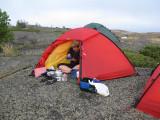Alice har startat en ny epok frukost i tältet på Västra skäret