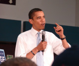 Barack Obama At  Albany Town Hall