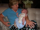 Linda, now a Grandma - to Greyson