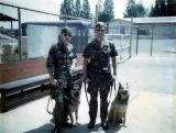 Sgt Gary Frederick  & Drug Dog Toby-1K32 and Sgt Dannie Clay& Buck-V031 at Heroin school in Nov 74