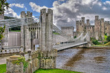 Suspension bridge, Conwy, North Wales
