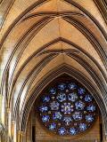 Circular window, Truro Cathedral, Cornwall