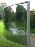 Dan Graham's Glass Pavilon : - Two Different Anamorphic Surfaces erected at Wanås in 2000.jpg