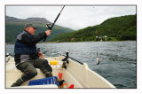 Bjørn and me out fishing  in Gratangen (where our summer house is)