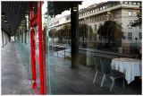 Reflection ,interior and  pedestrian