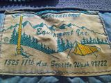 Old  REI Label ( Mid 1960's) Monte's Sleeping Bag