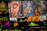 Buddha art at the Sunday night market