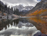 CO - Maroon Bells & Lake - Afternoon Reflection