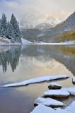 CO - Maroon Bells & Lake - Foggy Reflection 4