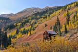 Silverton - Mining Structure & Mountain Fall Color
