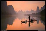 Li River Cormorant Fisherman at Sunrise