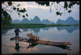 Yulong River Bamboo Rafting at Dawn
