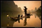 Cormorant Fisherman at Sunrise