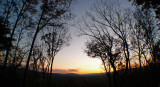 FALL MOUNTAIN SUNSET  -  IMAGE MADE USING THE OPTEKA .45X WIDE ANGLE LENS
