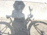 L'ombre du vélo.