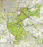 Forêt de Soignes : carte des routes rollables et cyclables (pour usage personnel)
