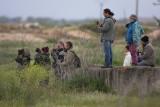 Birdwatching group - Grupo pajareando - Un grup observant ocells