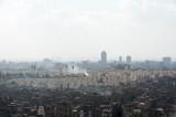 Cairo skyline with the pyramids