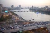 Cairo traffice over the Nile