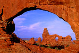 Turret Arch through North Window, Arches National Park, UT