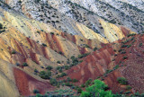 Flat irons caused by erosion of steeply dipping beds, Dinosaur National Monument, UT