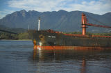 Krateros aground just inside Vancouver Harbour