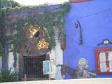 An old church window at Mi Casa