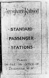 Pennsylvania Railroad Standard Passenger Stations