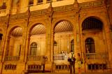 plaza españa night shot with wedding
