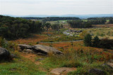 Little Roundtop at Gettysburg (many Confederates died there)