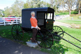 Jill and an Amish buggy (she dated in one in Covington
