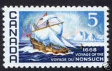 NONSUCH sail boat big wave stamp - 1968