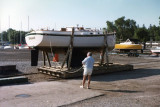Gordon with NONSUCH, 1978, July, first launching (!) at Niagara-on-the-Lake