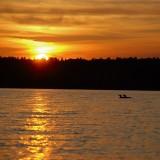 Sunset Paddle on Stoney Lake - just off South Bay