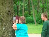 Looking at baby birds